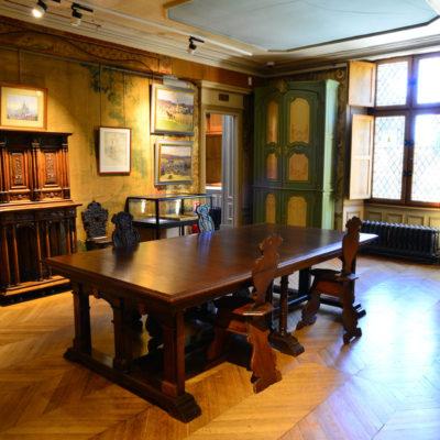 Ancienne salle d'étude de la demeure de Joseph Guyot, actuelle salle Dourdan © Musée du château de Dourdan