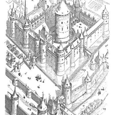Le château du Louvre, réparé et reconstruit en grande partie sous Charles V, Eugène Viollet-le-Duc, Dictionnaire raisonné de l'architecture du XIe au XVIe siècle, 1854-1868