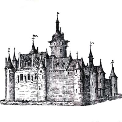 Le château de Dourdan au XVe siècle  © Musée du du château de Dourdan