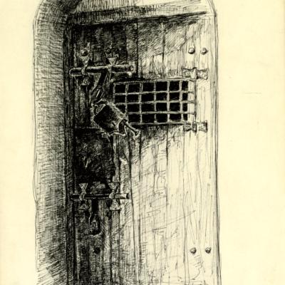 Porte de prison du château de Dourdan © Musée du château de Dourdan