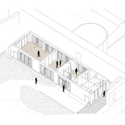 Extension, vue axonométrique © Soja Architecture