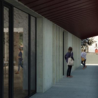 Passage le long de la courtine © Perspective 3D Margaux Botton