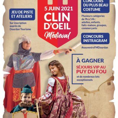 Affiche-ClinOeilMedieval-Dourdan2021